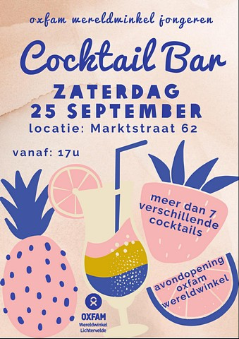 thumbnail-Cocktailbar in de wereldwinkel op 25 september