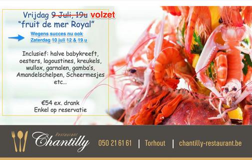 thumbnail-Ook fruits de mer op zaterdag 10 juli in de Chantilly