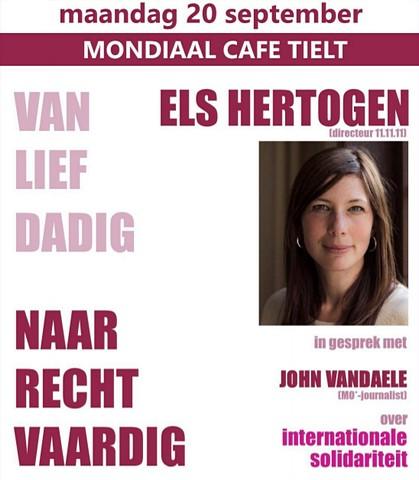 thumbnail-Els Hertogen over mondiale solidariteit tijdens Mondiaal Café op 20 september